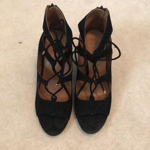 Aldo Lace-Up Block Heels
